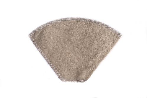 Hjemmesydd kaffefilter av ubleket lerret (str.2 og str4.)