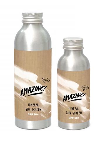 Mineralsolbeskyttelse SPF50+ fra Amazinc Vegan