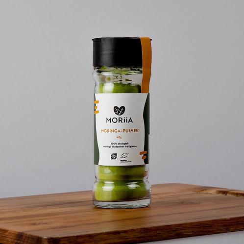 Moringa-pulver i krydderglass