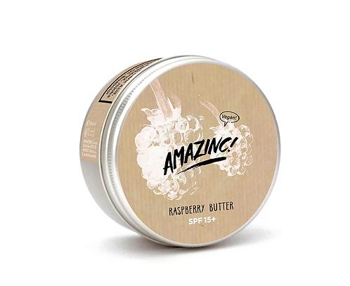 Bringebær smør SPF15 fra Amazinc Vegan