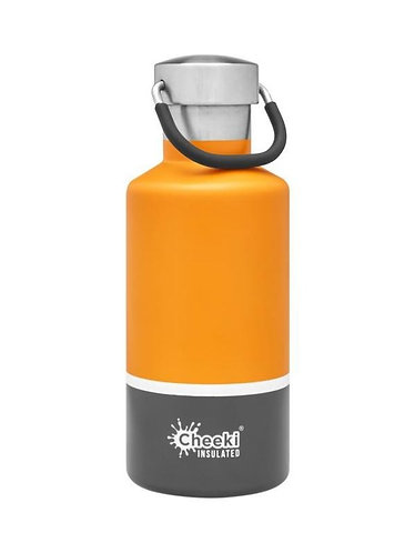 Cheeki INSULATED drikkeflaske Sunshine Grey 400ml