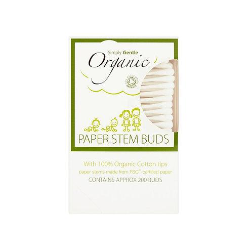 Simply organic papir q-tips 200 stk