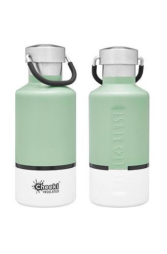 Cheeki INSULATED drikkeflaske Pistachio&Hvit 400ml