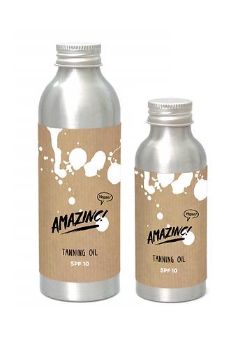 Tanning oil SPF10 fra Amazinc Vegan