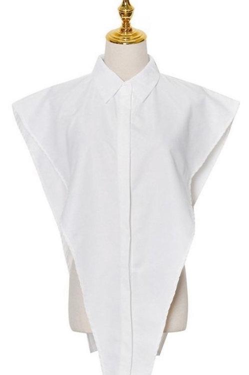 Button down side less shirt