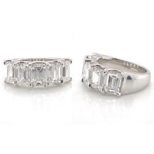 Emerald Cut Solitaire Diamond Band - Only for the Extraordinary