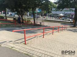 Kispest Long Red Handrail