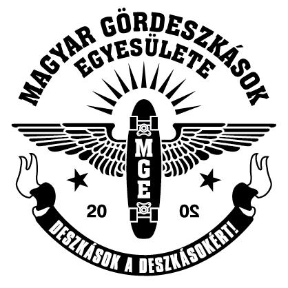 MGE, Magyar Gördeszkások Egyesülete logó | Smirgli