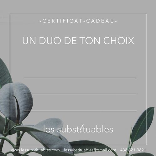 certificat-cadeau duo au choix