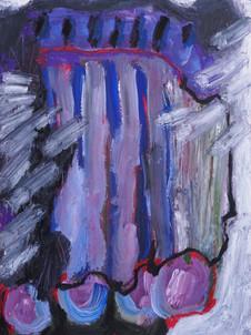Acrílica, óleo, bastão de óleo, carvão e giz pastel oleoso sobre papel   Acrylic, oil, oil bar, charcoal and oil pastels on paper   21x30cm  2020