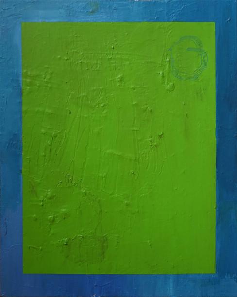 Acrílica e pasta de modelagem sobre tela / Acrylic and modeling paste on canvas 35 x 45cm 2019
