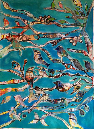 Birdsong in the Morning 22 1_2x 30 on wa