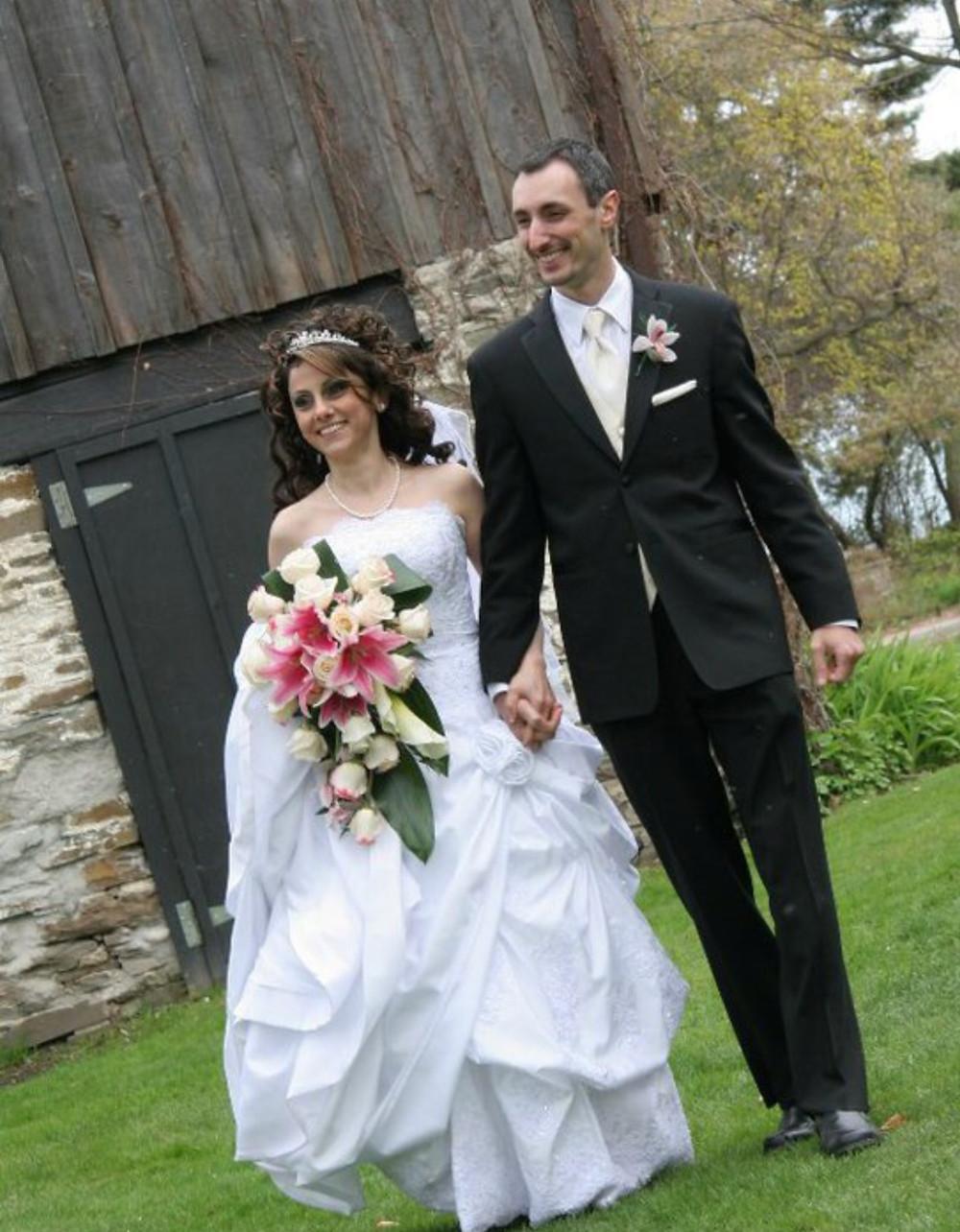 Mark and Asmaa on their wedding day