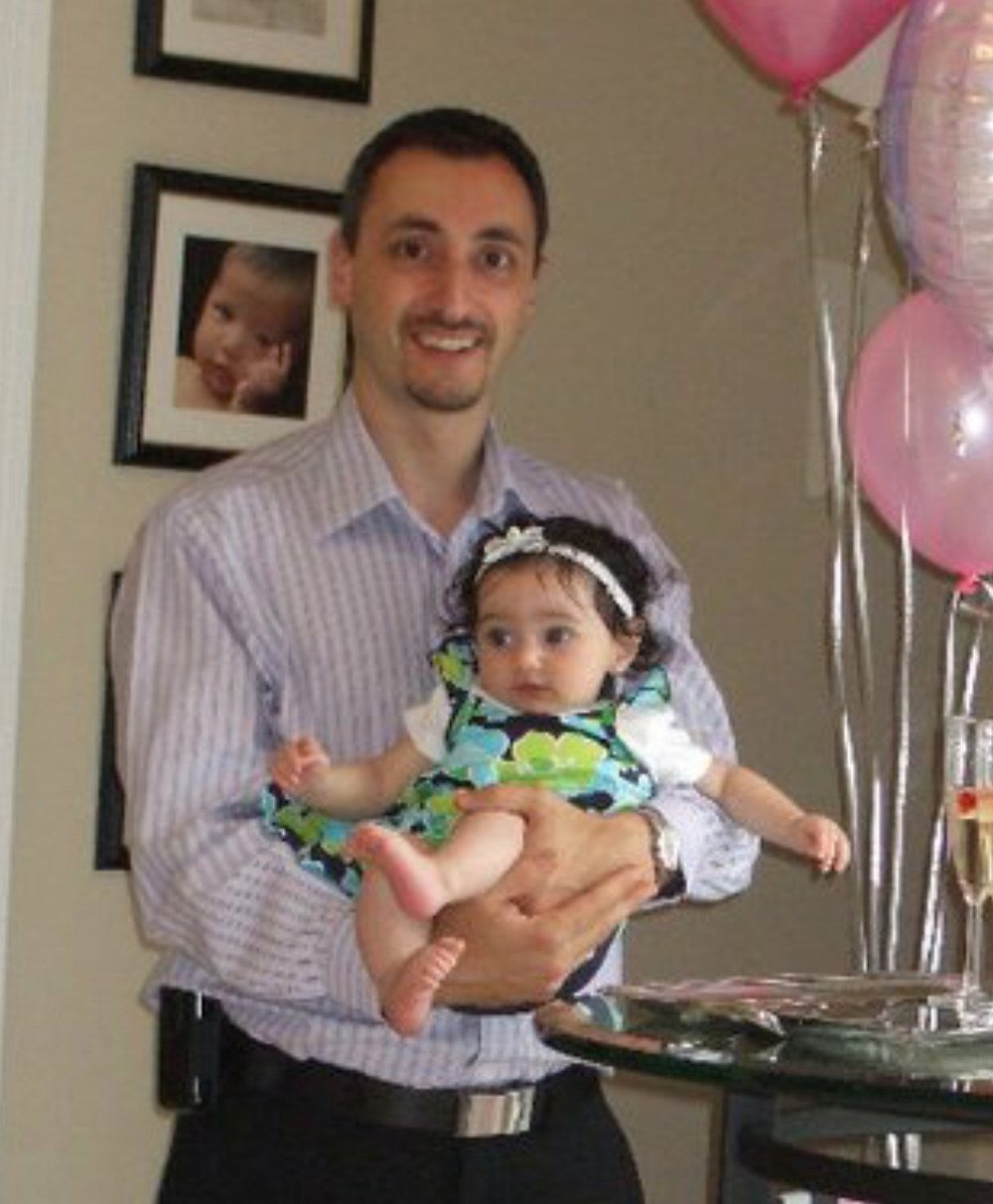 Mark and his young daughter Veronica