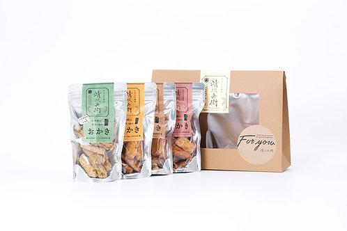 玄米餅を米油で揚げたおかき Gift Box <S>
