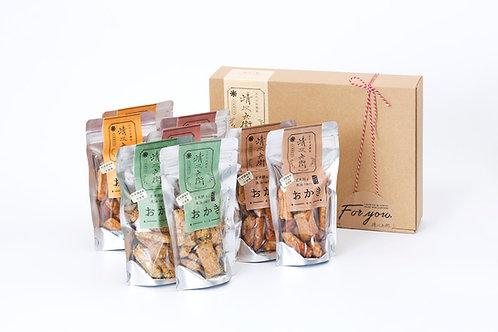 玄米餅を米油で揚げたおかき Gift Box <L>