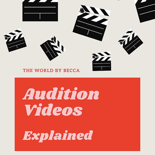 Audition Videos Explained - eBook