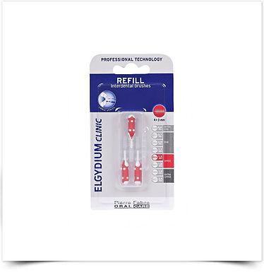 Elgydium Clinic Recarga Escovilhões Vermelho   3 unidades