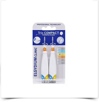 Elgydium Clinic Escovil Trio Compact Espaços Estreitos Mistos | 2 unidades