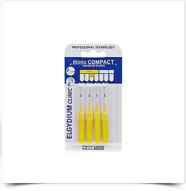 Elgydium Clinic Escovil Mono Compac Amarelo   4 unidades