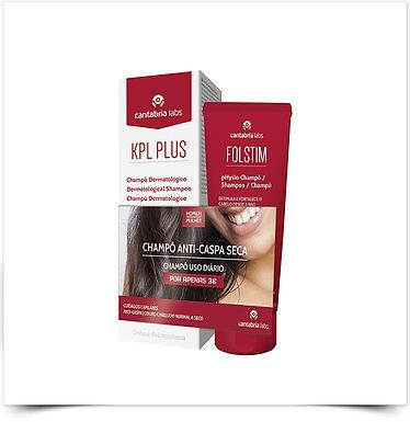 KPL Plus Champô Anticaspa e Antisseborreico + Folstim Physio Champô por 3€