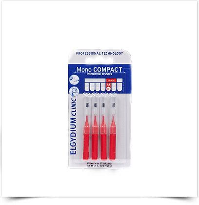 Elgydium Clinic Escovil Mono Compac Vermelho | 4 unidades