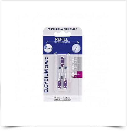 Elgydium Clinic Recarga Escovilhões Violeta   3 unidades