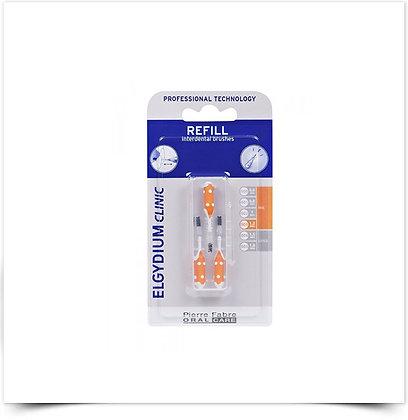 Elgydium Clinic Recarga Escovilhões Laranja | 3 unidades