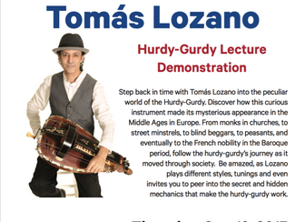 """""""A Journey Through Time With the Hurdy- Gurdy"""" A lecture demonstration at Duquesne Univers"""