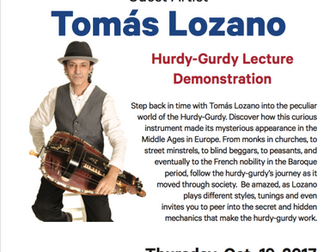 """A Journey Through Time With the Hurdy- Gurdy"" A lecture demonstration at Duquesne Univers"