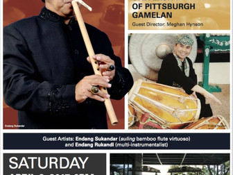 University of Pittsburgh Gamelan Presents- Inspired by Gamelan: Music by Indonesian and Western Comp