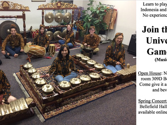 Gamelan Open House at Pitt
