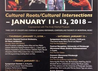 University of Pittsburgh Gamelan plays in Microtonal Music Festival (1/12/18)! Alvin Lucier's Mu