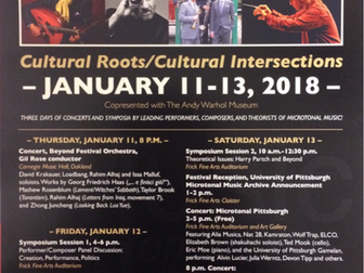 University of Pittsburgh Gamelan plays in Microtonal Music Festival (1/12/18)! Alvin Lucier's Mu