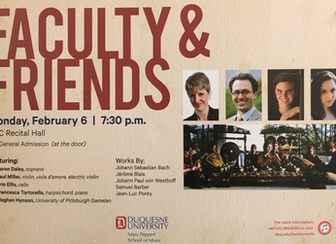 Faculty and Friends Recital: Duquesne University