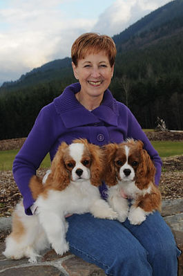 Judi and two cavaliers