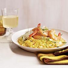 Shrimp with Saffron Rice and Fennel Salad