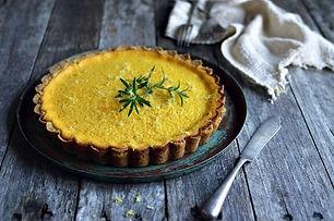 Saffron & mascarpone tart
