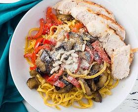 saffron pasta with chiken
