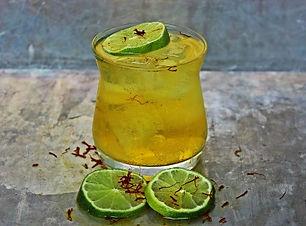 Saffron Vodka and Soda by Phoenix Saffron