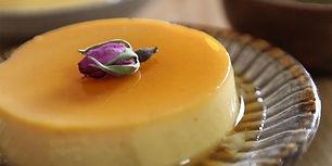 Saffron crème caramel