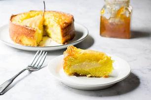 Saffron Pear Cake by Phoenix Saffron