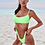 Thumbnail: Mexico beach daring neon green bikini
