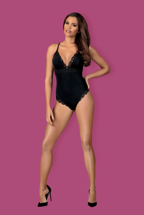 Arisha sexy black teddy