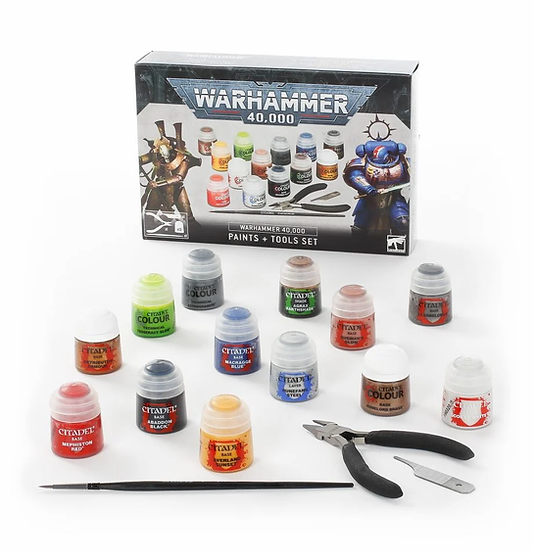 Warhammer 40k: Paints and Tools Set