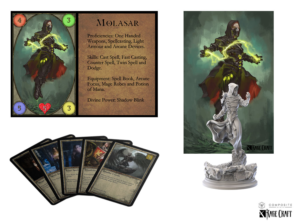 Vampire Sorcerer Miniature used with concent of ragecraft for the purposes of conceptual design and play testing