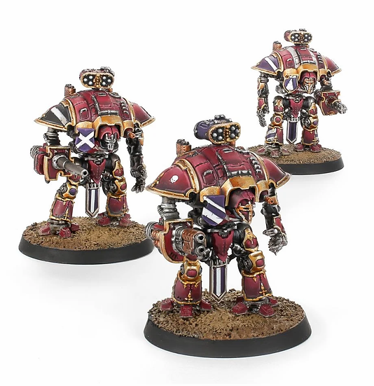 Adeptus Titanicus: Questoris Knights with Thunderstrike Gauntlets and Rocket Pod