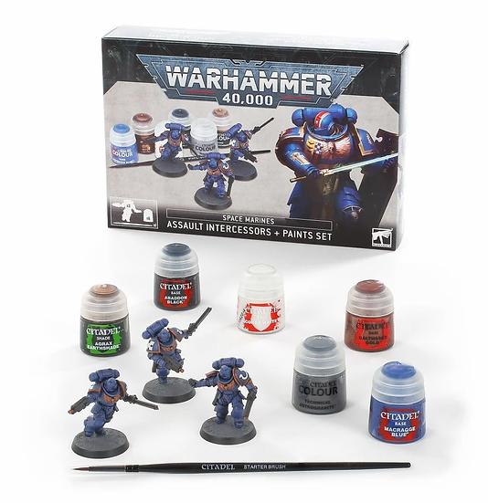 Space Marines: Assault Intercessors + Paint Set