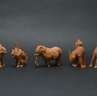 白象 Ⅱ、狛犬・獅子Ⅱ