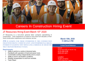 JT Resources is HIRING